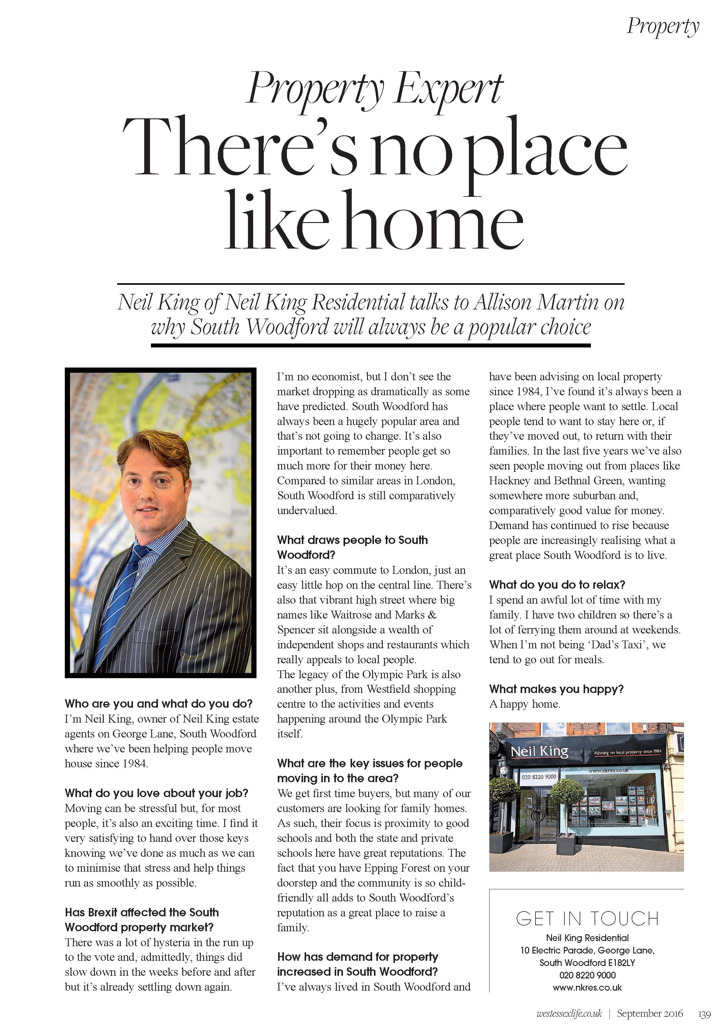 Neil King featured in West Essex Life magazine...